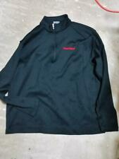 Nike Golf Men's Pullover Quarter Zip Black Jacket Heartland logo Xl Used