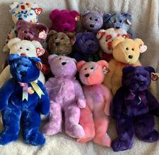 Lot of 14 Ty Beanie Buddies Clubby Princess Millenium Billionaire Employee Bear