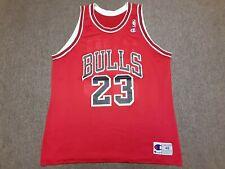Vintage 90s Champion NBA Chicago Bulls #23 Michael Jordan Jersey Shirt Red 48
