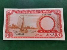Gambia one pound unc