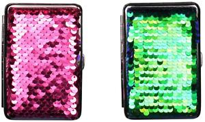Champ Cigarette Case 14 King Size - Metal/Fabric Glitter - Rubber Band - 2