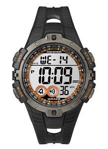 Timex Men's Marathon Digital Quartz Resin Case/Black Silicone Watch T5K801