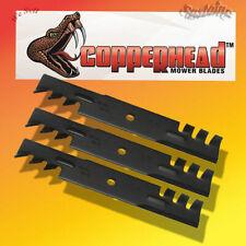 "Lot 0f 3 Copperhead Heavy Duty Mulching Blades  60"" Cut length 20 1/2 Center 1/2"