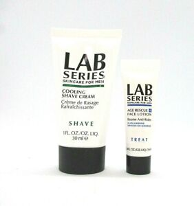 Set/2 LAB Series Skincare For Men Cooling Shave Cream & Age Rescue Face Lotion