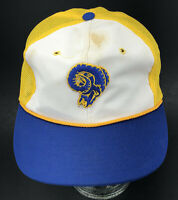 Vtg LA Rams Snapback Hat Sports Specialties Blue Truckers Mesh NFL Los Angeles T