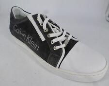 Calvin klein 1093 E sport Leather Bianco Trainers Grey UK 7 EU 41 LN085 RR 05