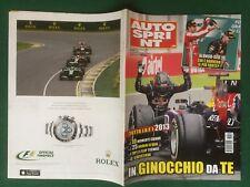 AUTO SPRINT n.50/2013 Rivista Magazine VETTEL ALONSO RED BULL OROLOGIO ROLEX