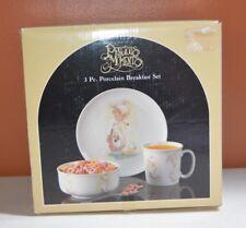 E-5359 Precious Moments Porcelain Breakfast Set - Goose Girl Design 1980 Nib