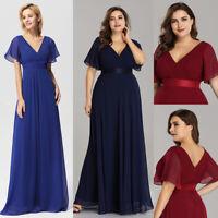 Ever-Pretty US Plus Size Long Wedding Party Dresses Bridesmaid Prom Dress 09890