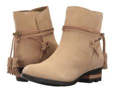 Sorel Farah Short Boots Womens size 6 Suede Beach/Cordovan
