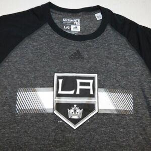 ADIDAS Ultimate Tee LA LOS ANGLES KINGS NHL HOCKEY T SHIRT Sz Boys L