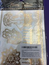 6 Sheets Terra Tattoos Gold Silver New
