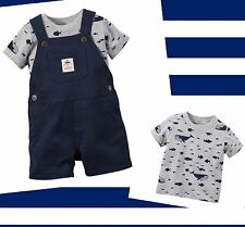 Boy Carter's Tee Shrit & Shortall Sea Whales Fish Set Mommy's First Mate Anchor