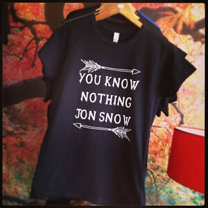 Game of Thrones - You Know Nothing Jon Snow Inspired T-shirt and Baseball Shirt
