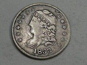 1833 Bust Half Dime VF w/ Cleaning. #23