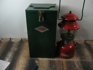 COLEMAN LANTERN 200 RED W / CASE  DATED 12 - 67  NO RESERVE