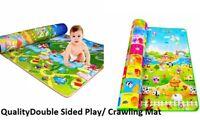 Extra Large Crawl Mat Baby Toddler Playmat Waterproof 2 Side Play Carpet 195x165