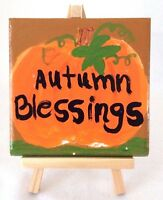 Hand Painted Decorative Tile, Autumn Decorative Tile, Fall Decoration, Tile Art