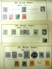 British Empire Large Collection of Stamps, Still on the Book Page.