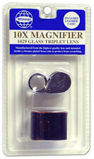 Glass Triplet Lens 10X Loupe Magnifier Coins Grading Diamonds Gold Jewelry US