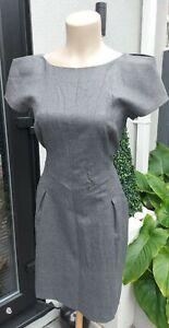 *BNWOT TED BAKER SIZE 3 UK 14 FULLY LINED GREY VIRGIN WOOL DRESS*