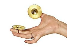 1 Pair = 2 PCS Brass Finger Cymbals Belly Dance Zills with yellow elastic