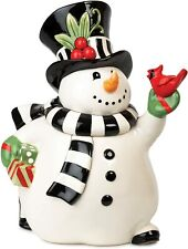 Fitz and Floyd Frosty's Frolic Snowman Cookie Jar - New in Box