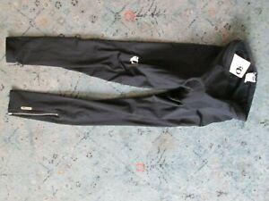 Pearl Izumi Men's Black Therma Fleece Slice Tights Zip Ankle Run Bike Cycle XL
