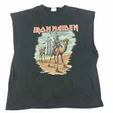 Iron Maiden Dubai 2007 Tour Trashed Sleeveless Doubled Sided T-Shirt Size 2XL