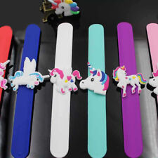 1x Unicorn Slap Band - Kids Flexible Silicone Snap Band Wrist Bracelet Wristband