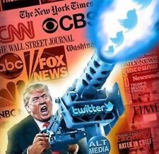 "Donald Trump Fake News Deep State Twitter Wars Funny Sticker Trump 2020 Large 5"""