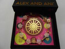 Alex and Ani Flower Halo Coral Bangle Bracelet, Shiny Rose NWTBC