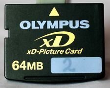 Olympus 64mb xd card, made in Korea by Samsung, including case.