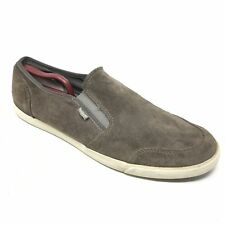 Men's Clarks Torbay Shoes Loafers Size 13M Gray Suede Casual Slip On Stretch A3