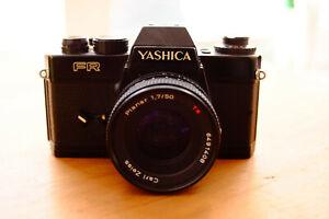 Carl Zeiss Planar 50mm 1.7 Contax/Yashica C/Y mit Yashica FR Analog Kamera