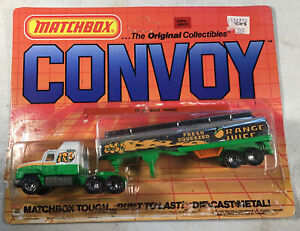 Vintage Matchbox Convoy CY35 Mack Tanker Truck With Box Orange Juice Open Pack