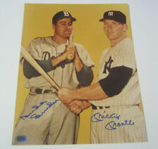 MICKEY MANTLE / DUKE SNIDER DODGERS YANKEES SIGNED AUTOGRAPHED 8X10 PHOTO CAS