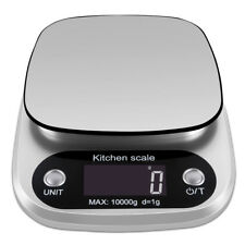 10kg Silver Kitchen Scales Digital LCD Electronic Cooking Food Weighing Scale US