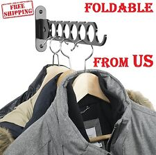 Clothes Hangers Holder Folding Arm Wall Mount Laundry Drying Rack Bathroom Cloth