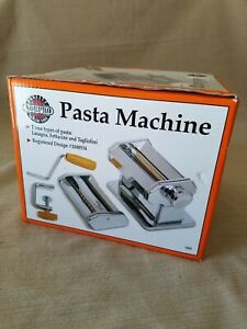 NIB! Norpro 1047 Pasta Machine in box in plastic. Heavy stainless steal. Manual
