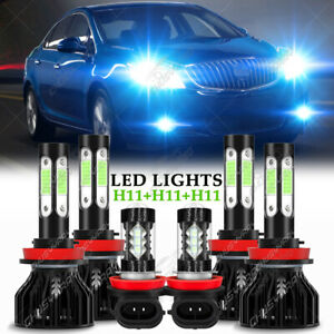 For Buick Verano 2012 2013 2014 2015-2017 Upgrade LED Headlight +Fog Light Bulbs