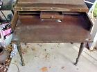 Antique Vintage Spinet Desk Solid Mahogany-Pickup Only-Sacramento-Lodi,Ca. Area