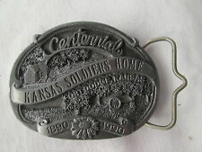 Belt buckle 1990 Centenial Ft Dodge Kansas soldiers home limited edition 108/350