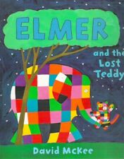 ELMER & THE LOST TEDDY David McKee New TV large paperback 2008 Kids Collectable