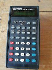 Vintage RARE Binatone senior slide rule / scientific calculator  +   manual