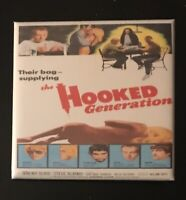 The Hooked Generation 1968 Grade B Drug Dealing Classic Film Retro Pin Button