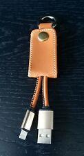 Cuir USB Lightning Chargeur Câble Porte-clés pour Iphone 5/6/7