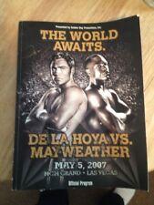 Oscar De La Hoya Autographed Mayweather-De La Hoya Official Program