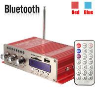 100W Car Motorcycle bluetooth HiFi Stereo MP3 Speaker FM Audio Amplifier AMP 12V