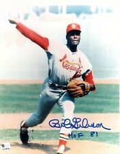 Bob Gibson St. Louis Cardinals Signed 8x10 Glossy Photo Global Authenticated